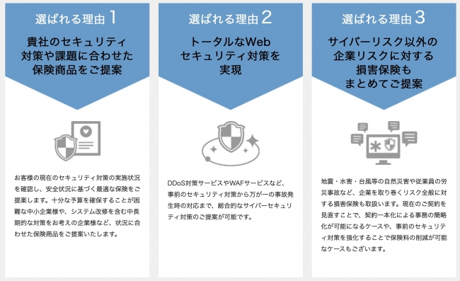 【アクセリアのサイバー保険の特徴】