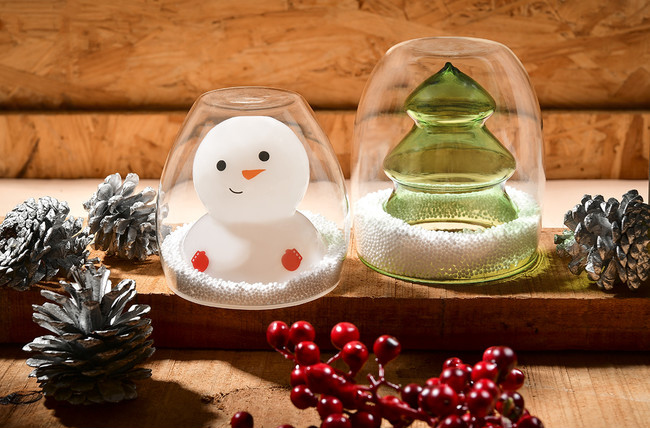 クリスマスシリーズ「ツリーと雪だるま」