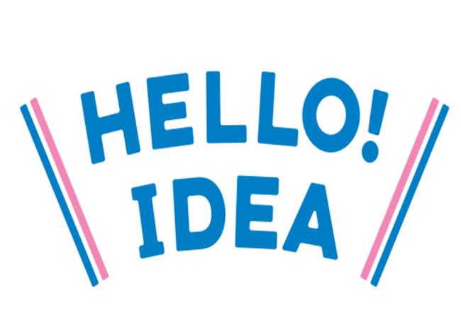 ▲ブランドメッセージ「HELLO! IDEA」オリジナルロゴ