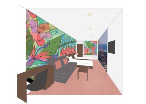 同氏がデザインを手がける客室イメージ