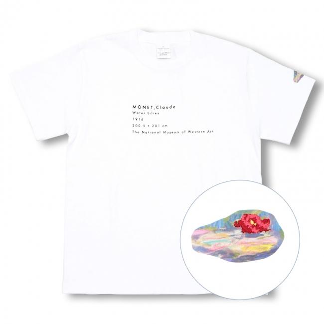 睡蓮刺繍Tシャツ 4,200円 +税