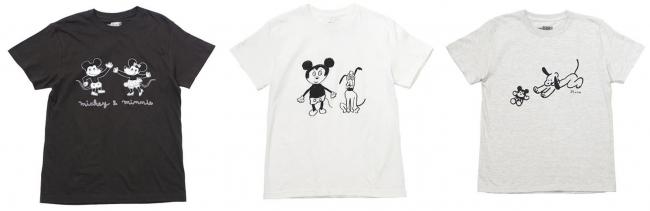 左から)そで山かほ子・塩川いづみ・寺岡奈津美が描くディズニーキャラクターのTシャツ