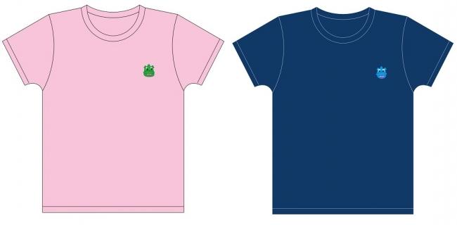 Tシャツ(ピンク/ネイビー)
