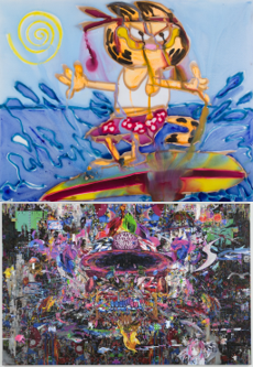 上:Katherine Bernhardt/下:Kazuki Umezawa