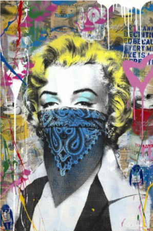 Marilyn Monroe , 2019 Silkscreen and Mixed Media on Paper
