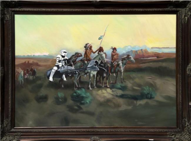 Wild Wild West , 2018 Oil on Canvas
