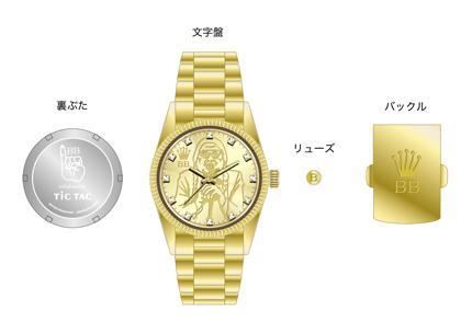 大富豪ベンジャミンボーナス金腕時計