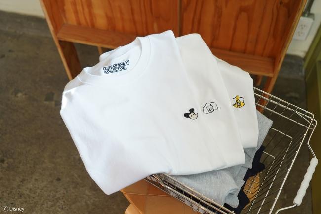 Tシャツ 全3種 5,300円+税 ミツカルストア「DISNEY ART COLLECTION」