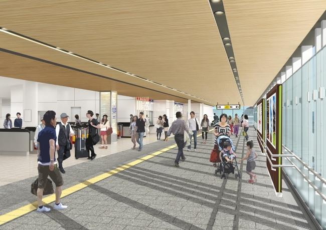 近鉄大和西大寺駅の南北自由通路の往来が可能に