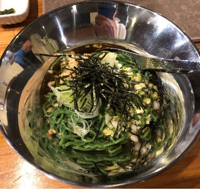 焼肉わたなべの「創作ユーグレナ冷麺」イメージ