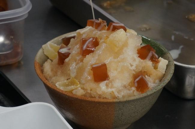 ゼリーに柑橘のお菓子とトッピングも盛りだくさん。見た目の可愛らしさも意識しました。