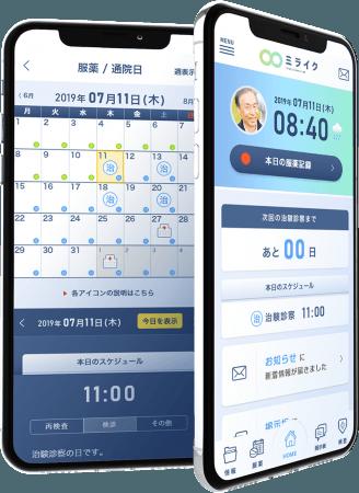 治験管理アプリ画面イメージ