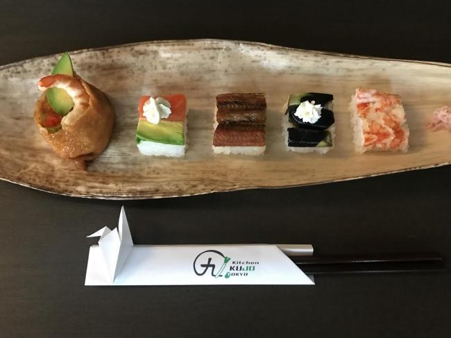 彩り豊かな押し寿司
