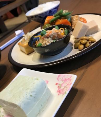 自家製豆腐と大豆料理