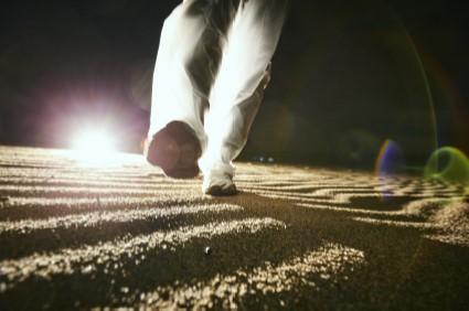 夜の鳥取砂丘の様子