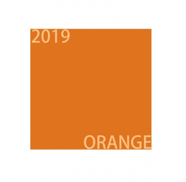 2019年の色オレンジ