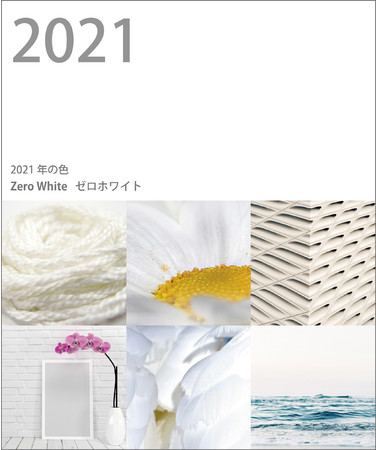 2021年の色ゼロホワイトとイメージ