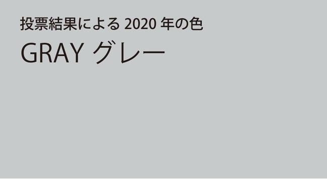 投票で選ばれた2020年の色グレー