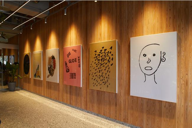 アーティスト立花文穂氏のアートワーク 広島の7つの川にちなんで7つのシリーズ作品『立つ』『天満』『感光』『母型』『球体』『傘下』『書体』