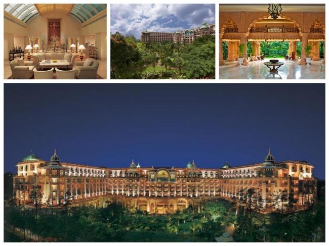 利用予定ホテル:五つ星宮殿ホテル「ザ リーラ パレス バンガロール」