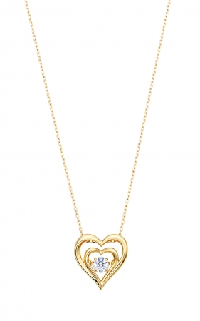K10YG QIREINI ダンシングストーン(ダイヤモンド) ネックレス 0.07ctUP  ¥38,000(税込¥41,040)