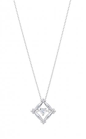 K10WG ダンシングストーン(ダイヤモンド)ネックレス(ハートシェイプダイヤモンド) 0.07ctUP ¥38,000(税込¥41,040)
