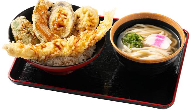 穴子天丼(ミニうどん付)980円(税込)