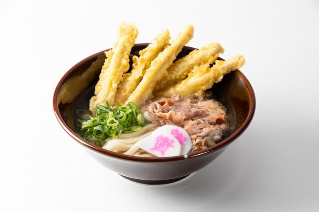 人気No.1メニュー「肉ごぼ天うどん」(700円)