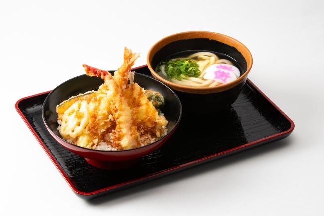冬天丼とミニうどんセット:980円(税込)