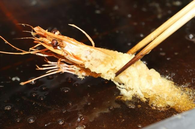 玄盛自慢の海老の天ぷら