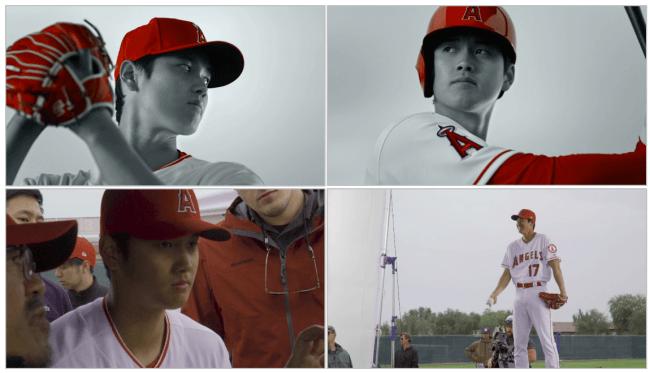 MLBプレーヤー・大谷選手がエンゼルスのユニフォーム姿で、新CMで ...
