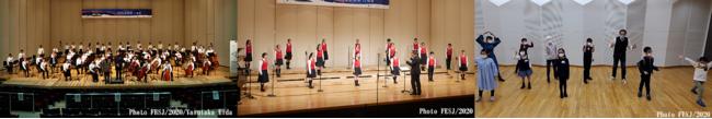 (左から)相馬子どもオーケストラ、相馬子どもコーラス、東京ホワイトハンドコーラス