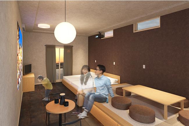 小上がりのある和テイストの客室(イメージです)