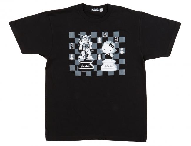 ガンダムvsハローキティ Tシャツ(M・L) 各3,456円(税込)
