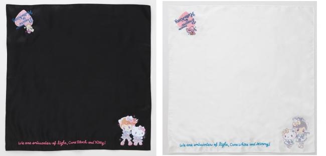 刺繍スカーフ ブラック/ホワイト 各8,500円