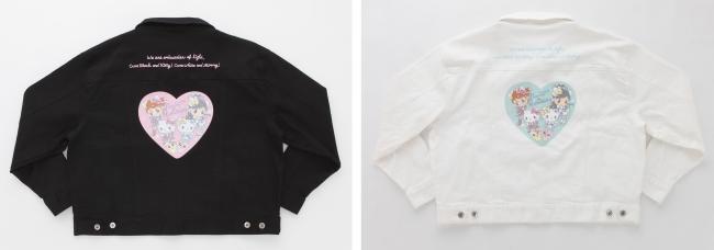 デニムジャケット ブラック/ホワイト 各14,500円