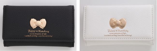 レザーキーケース ブラック/ホワイト 各3,850円