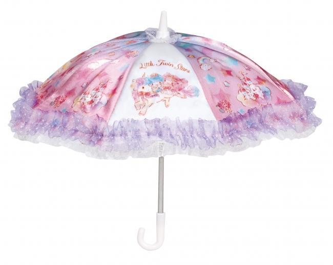 ユニコーンに乗ったキキ&ララがプリントされた傘