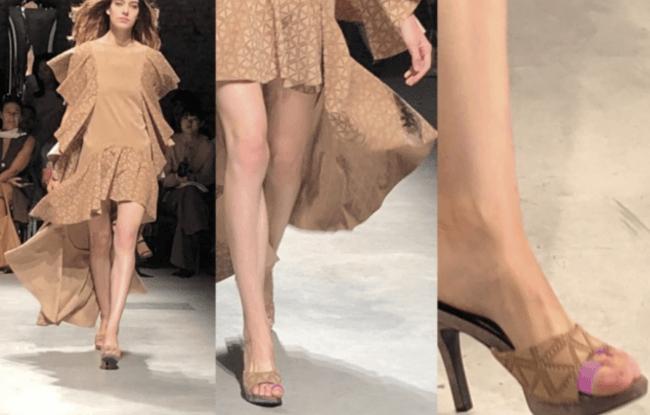 """今年9月に「2019SSミラノ・コレクション(主催:非営利団体 イタリアファッション協会)」に正式起用され、  世界のスーパーモデルが""""あし美人""""を装着し、  ランウェイを歩いた"""