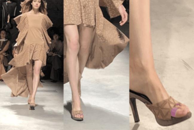 """昨年9月に「2019SSミラノ・コレクション(主催非営利団体イタリアファッション協会)」に正式起用され、世界のスーパーモデルがあし美人""""を装着し、ランウェイを歩いた。"""