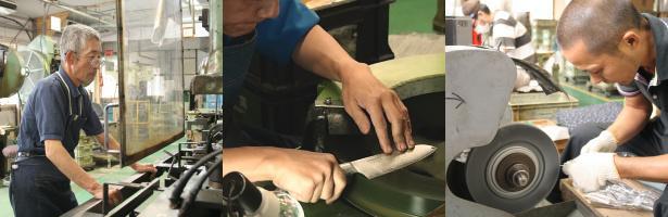 関の刃物の伝統を守り抜くべく現在でも職人の手で1本1本丁寧に包丁を製造