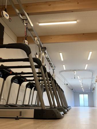 Pwalkと天井走行レールを設置