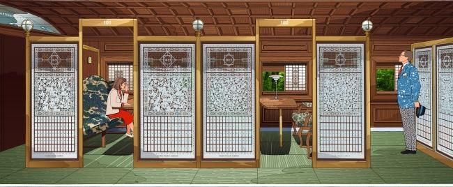 1号車 グリーン個室 イメージ