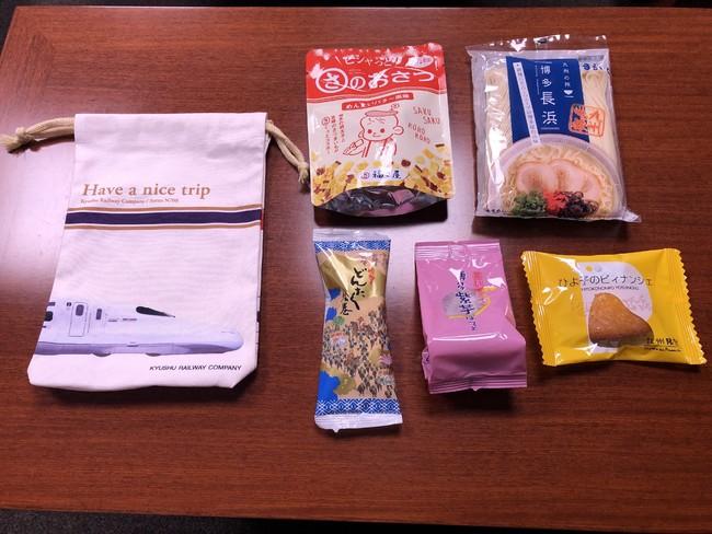 博多銘菓&オリジナル巾着袋 ※巾着袋にお菓子を詰めてお送りします