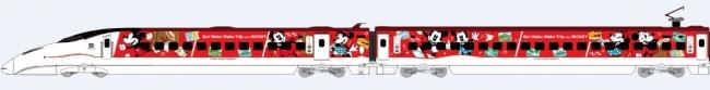 『JR九州 Waku Waku Trip 新幹線 ミッキーマウス&ミニーマウス』運行中! 運行区間:博多~熊本~鹿児島中央(11月27日(水)まで運転)