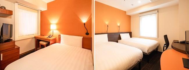 コンフォートイン東京六本木  1ベッドルーム(左)/ 2ベッドルーム(右)