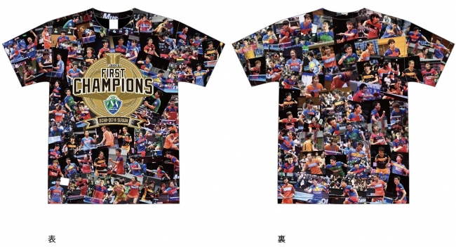 T.LEAGUE FIRST CHAMPIONS TシャツVer.MEN ¥4,000