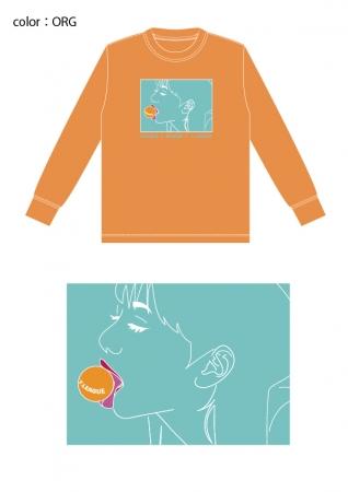 イベント記念ロングTシャツ オレンジ