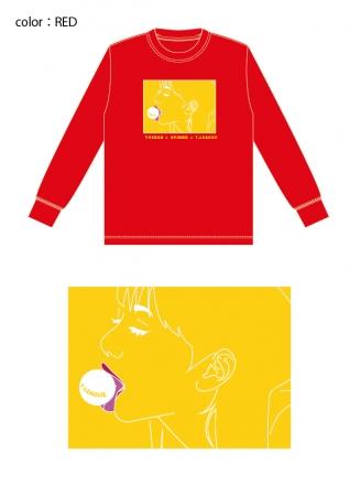 イベント記念ロングTシャツ 赤