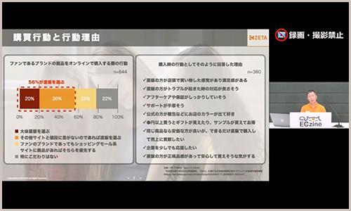 これからのD2Cに問われるCXについて解説する代表の山崎(配信画面)